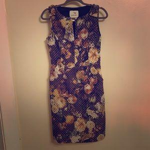 Anthropology floral dress